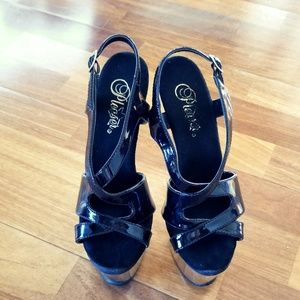24eff41138745 Pleaser Shoes - Chrome Pleaser Shoes 7